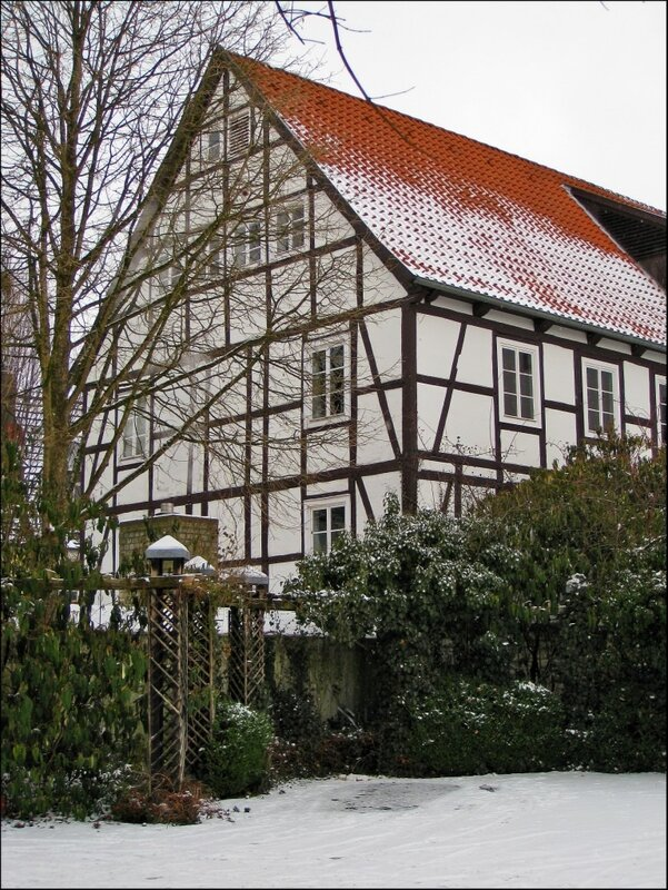 Падерборн, фахверковые дома
