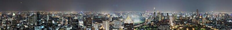 Ночной Бангок с высоты