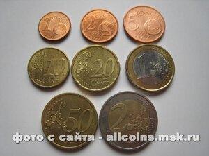 Набор монеты евро Германия