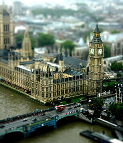 tilt-shift london