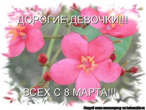 Поздравление нам девчонкам с 8 март