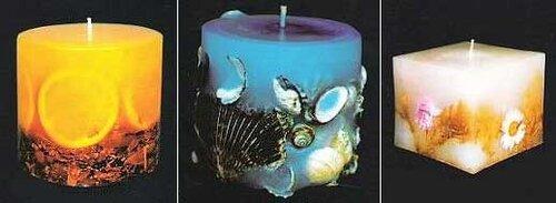свечи ручной работы необычный декор