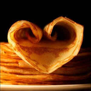 сердце из блинчика