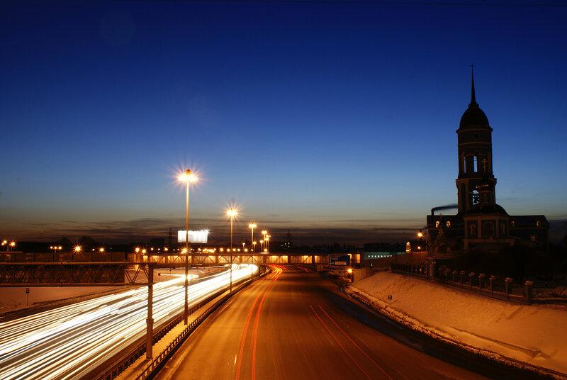 Ярославское шоссе.  Храм Владимирской иконы Божией Матери в Мытищах