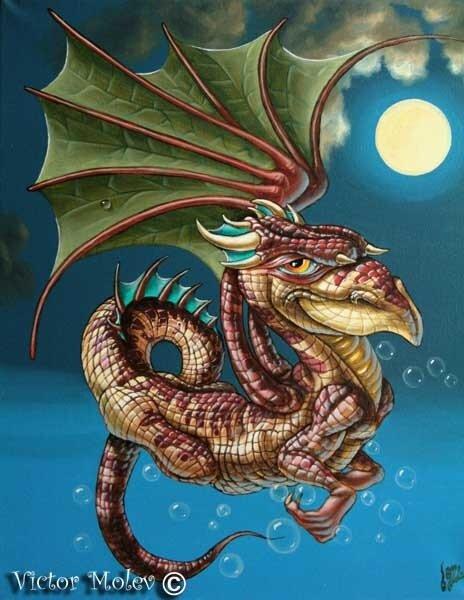 Полосчатый дракон 40х50 х.м.