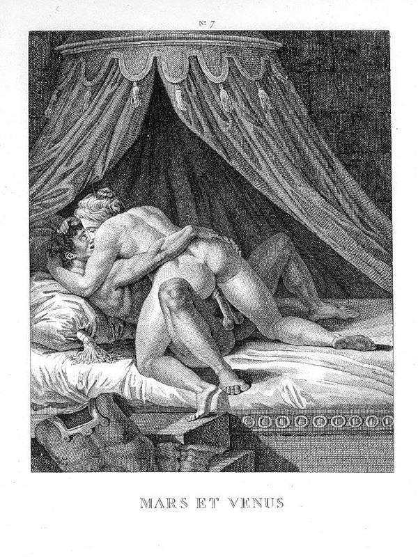 Порно гравюры ретро