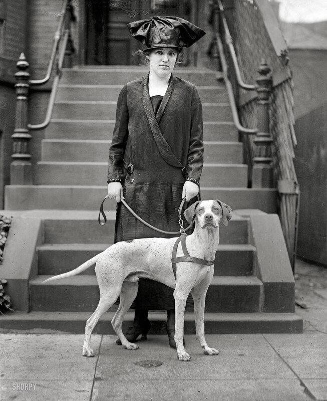 Старинное фото.Портрет с собакой,1920