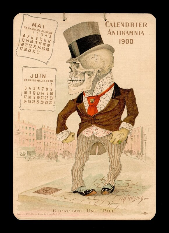 календарь 1900 года от Antikamnia Chemical Company