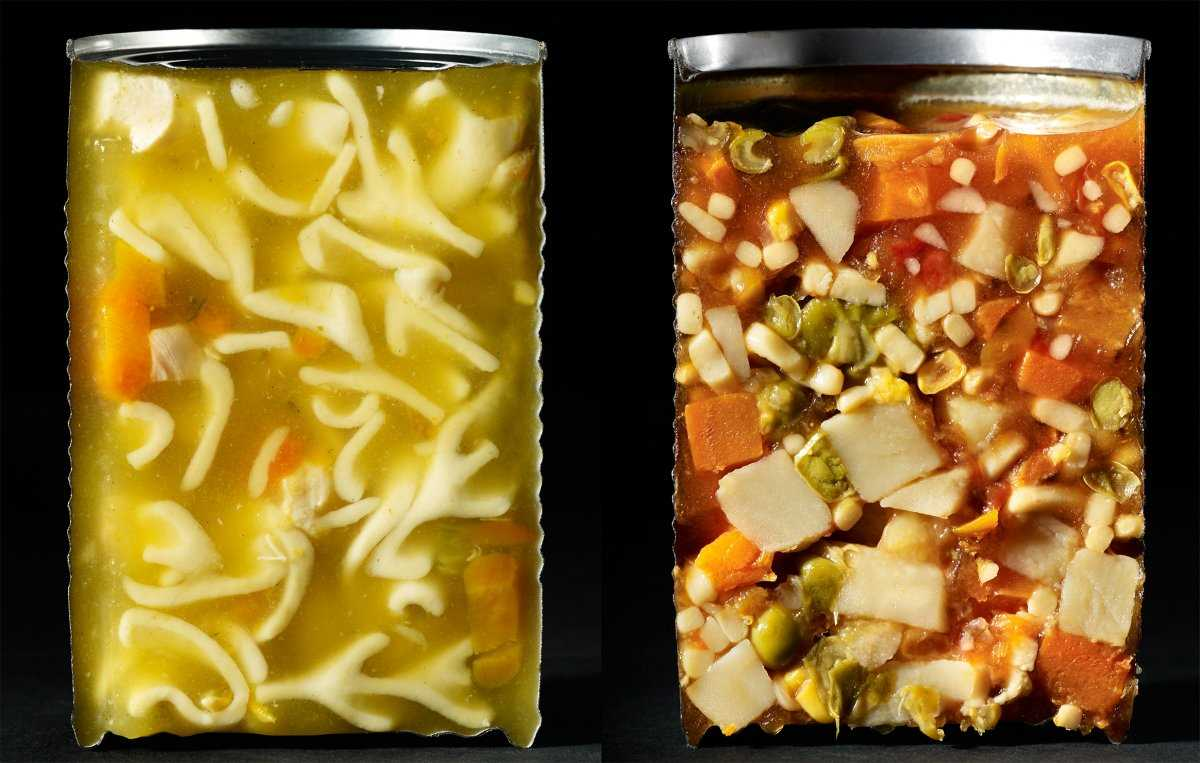 3. Разрезать пополам одни продукты было довольно легко, для других же потребовались различные ухищре