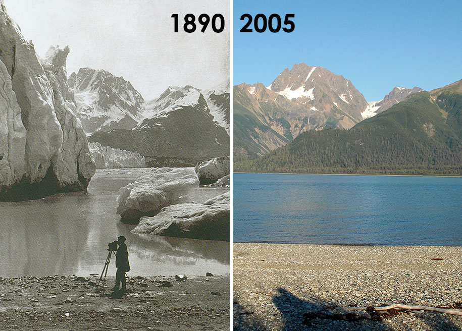 До и после глобального потепления. Надвигающаяся катастрофа в Национальном парке Глейшер
