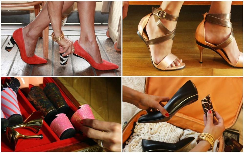Теперь легким движением руки можно превратить балетки ввечерние туфли навысоком каблуке. Сними ст