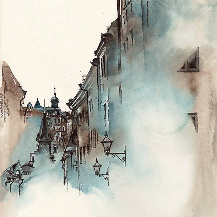 The misty watercolors of Sunga Park