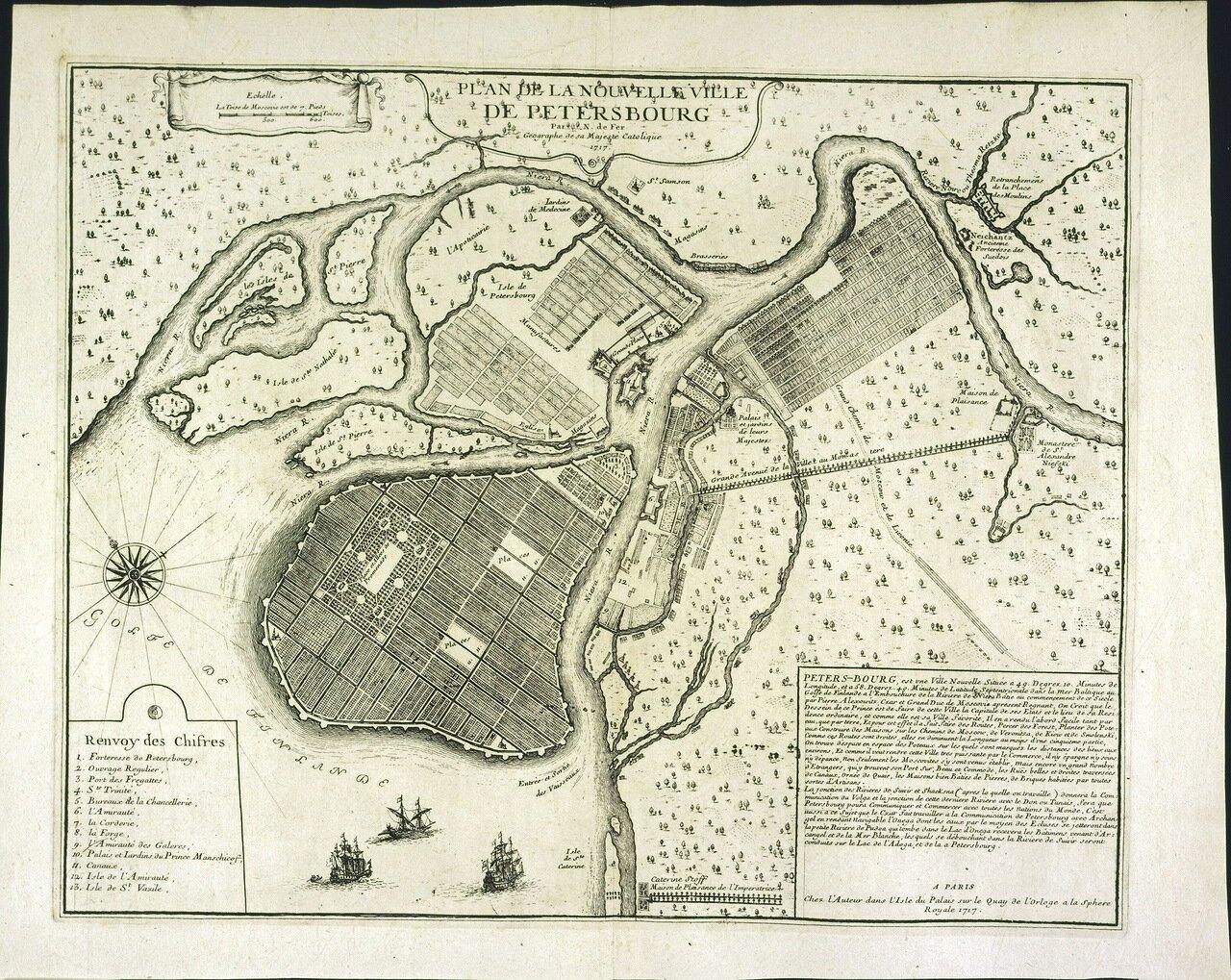 1717. План нового города Петербурга