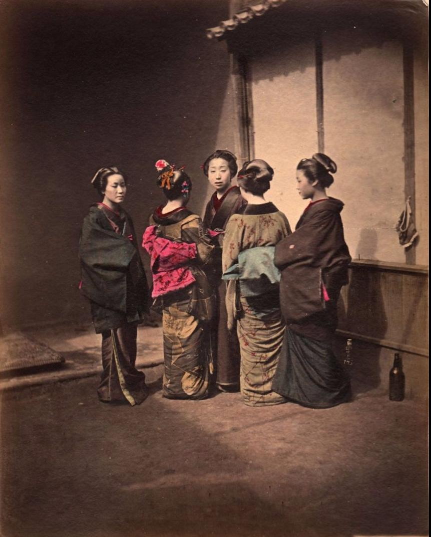Пять куртизанок. 1870-е