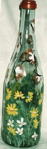 роспись бутылок хендмейд