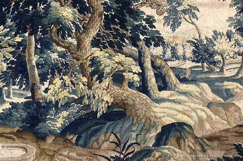 Шпалера «Пейзаж с рекой...» (кон. XVII – нач. XVIII вв.). ГМЗ «Царицыно».