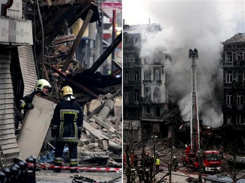 В Бельгии в результате взрыва обрушился пятиэтажный жилой дом.