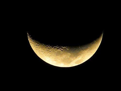 Февральская луна в Египте. И снова рожками вверх! :)