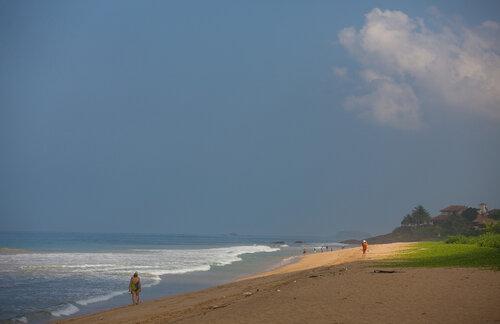 На пляже.