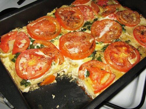 Запеканки в духовке из овощей с курицей рецепт