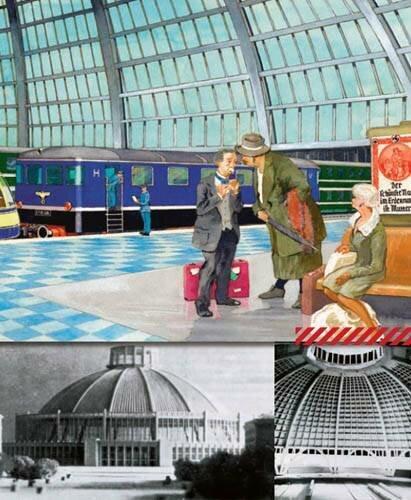 Проект железнодорожного вокзала в Мюнхене, диаметр купола – 265 м, высота – 117 м