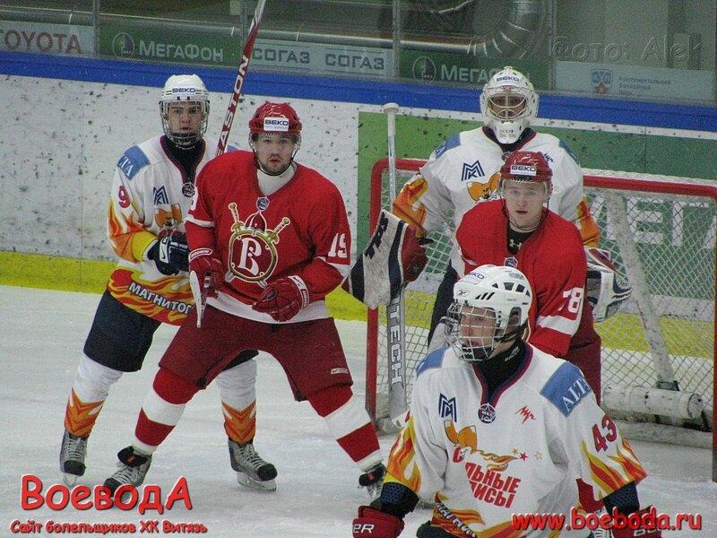Фото с матча Русские Витязи - Стальные лисы.