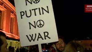 Валерию в Лондоне встретили антипутинскими протестами