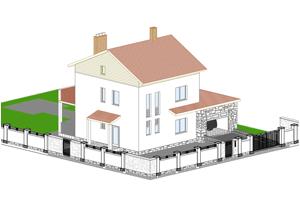 Проект дома из ячеистого бетона.