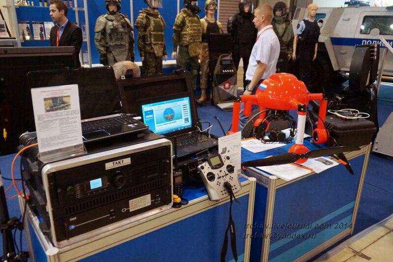 Комплекс быстрого развертывания с БПЛА разных производителей. INTERPOLITEX-2014, Москва