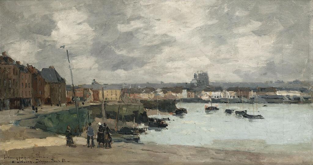 Albert Lebourg - The Quay of Dieppe, After the Rain, 1882.jpeg