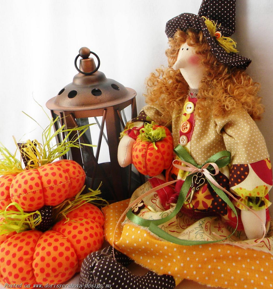 тыква, хэллоуин, декор, праздник, кукла