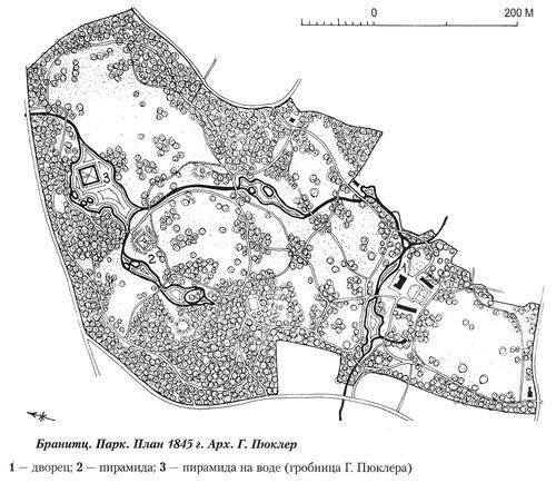 Парк Браниц, генеральный план