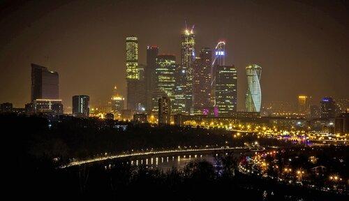 Сияние ночной Москвы