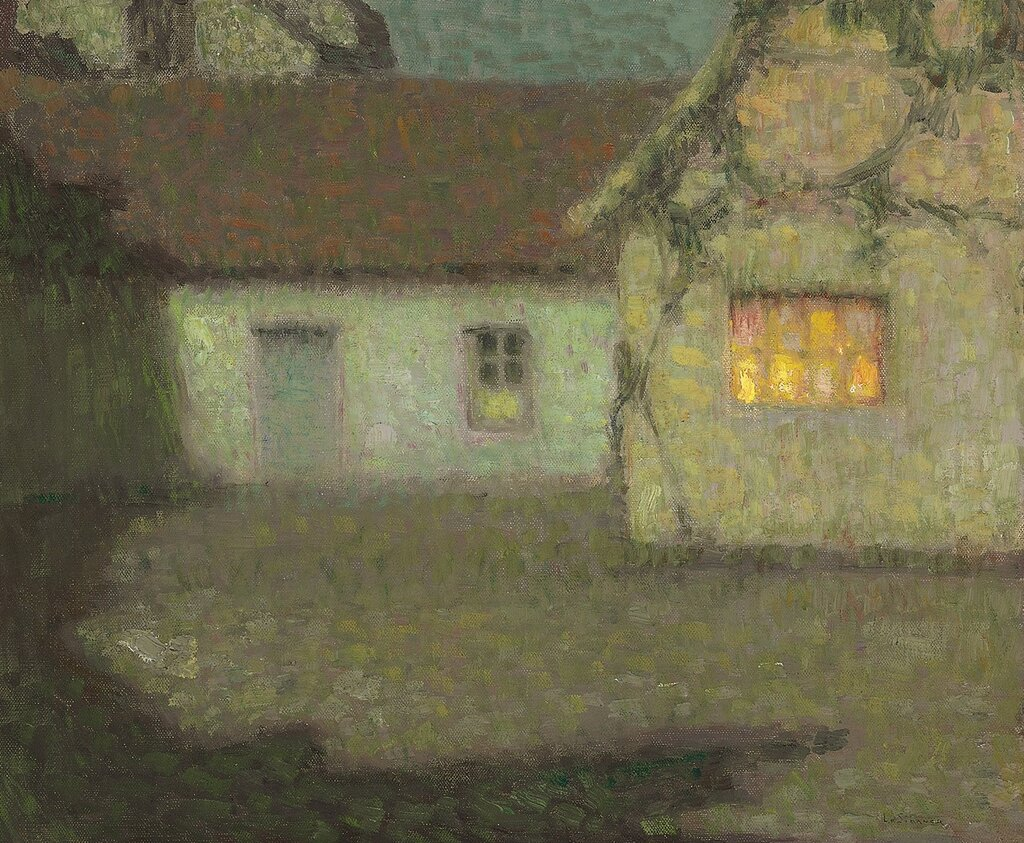 The Courtyard of the House in the Moonlight, Gerberoy, 1931.jpg