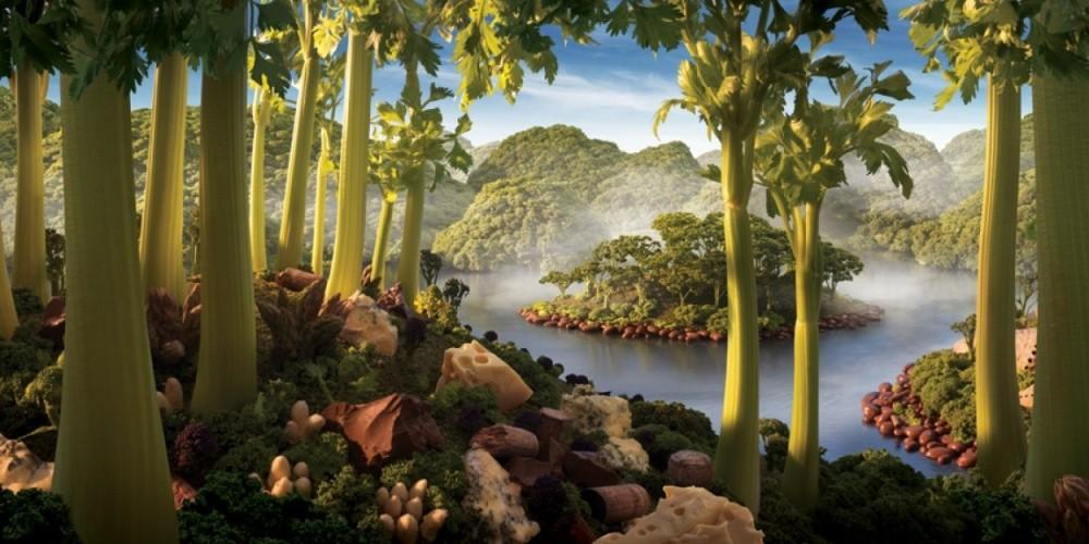 10. Остров из сельдерея