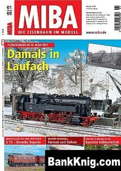 Журнал MIBA. Die Eisenbahn im Modell 2008 No 01 pdf (e-book) 8,4Мб