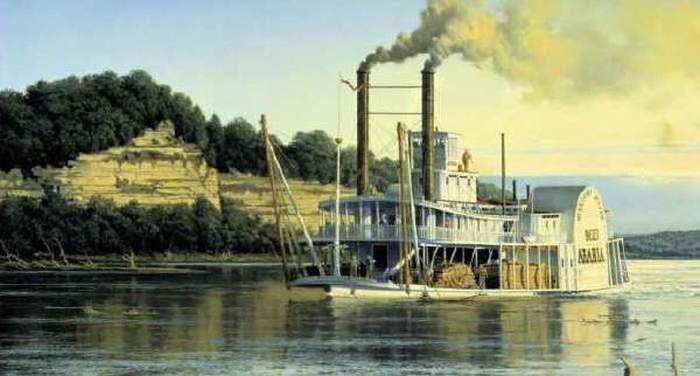 Груз и вещи с парохода, затонувшего в середине XIX века