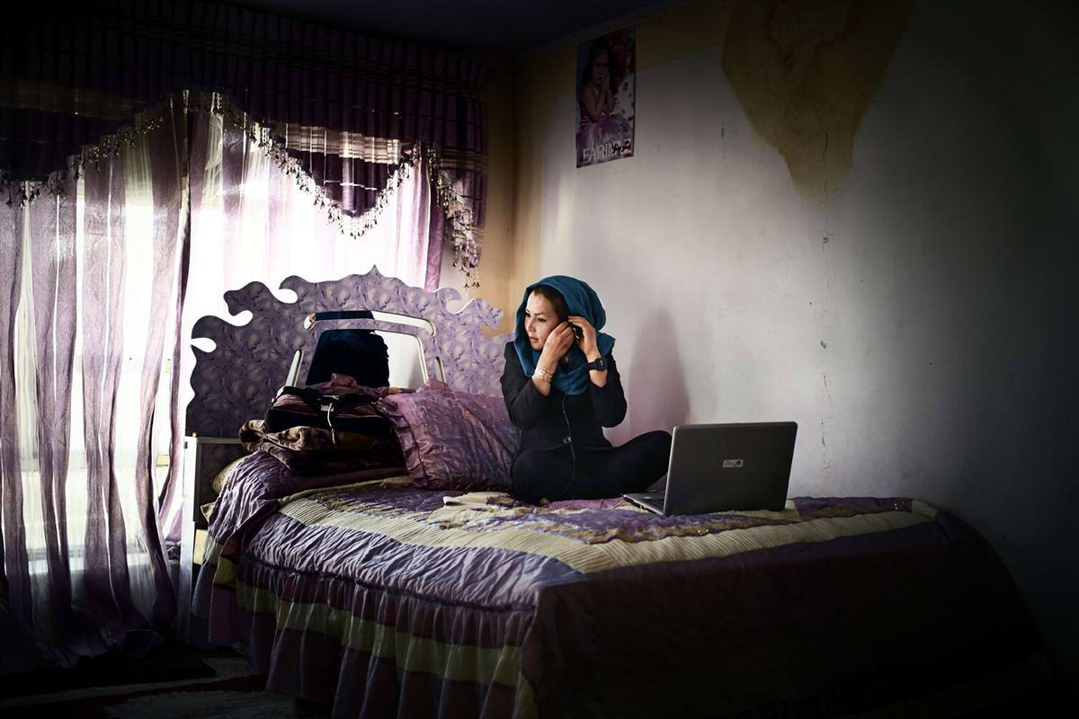 Афганские женщины из спецподразделений МВД Афганистана: картинки из жизни (16)