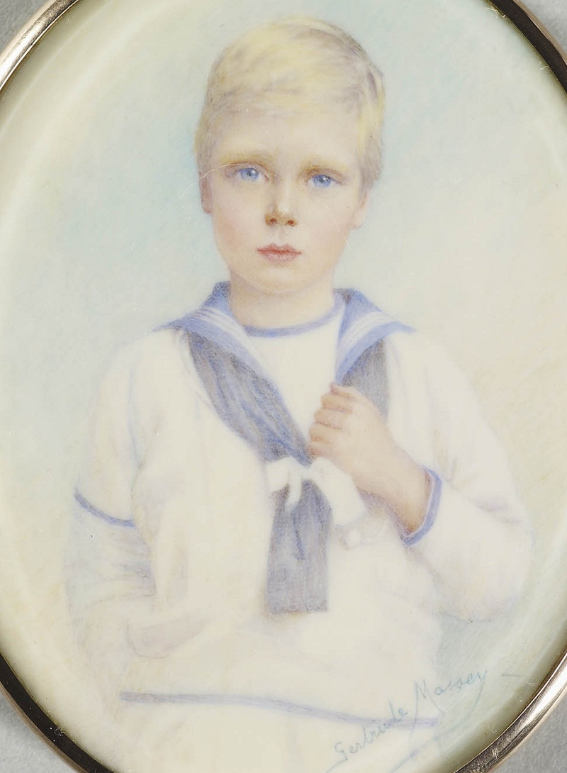 Gertrude Massey (active 1898-1911)Prince Edward of Wales (1894-1972), later Edward VIII.  Signed and dated 1901