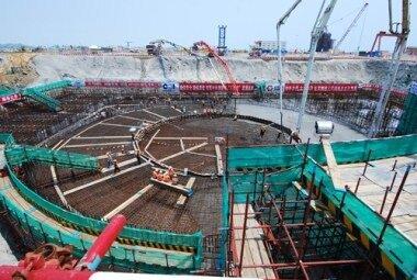 Закладка бетона на АЭС Haiyang 2 (Китай)