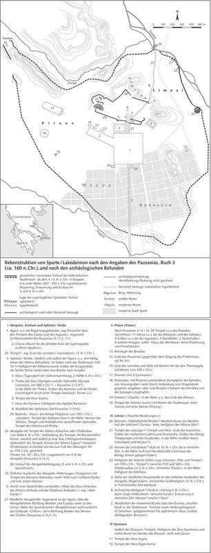 город Реконструкция Спарты Лакедемона по сведениям Павсания и по археологическим находкам