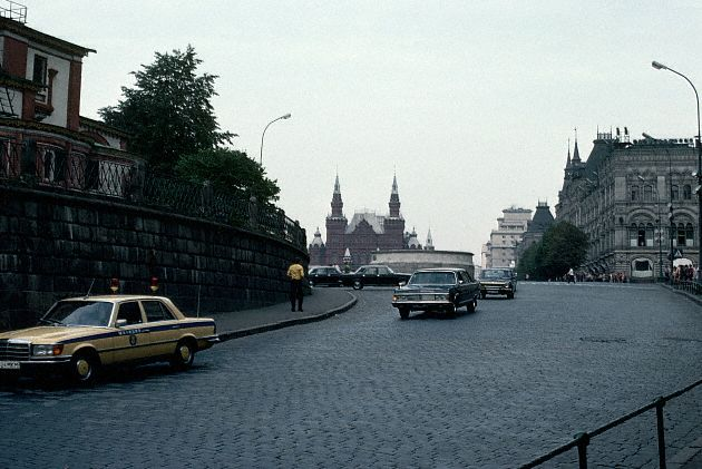 Government Cars Leaving The Kremlin, Moscow