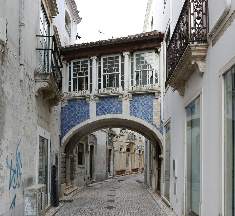 Leiria. The streets of the old city