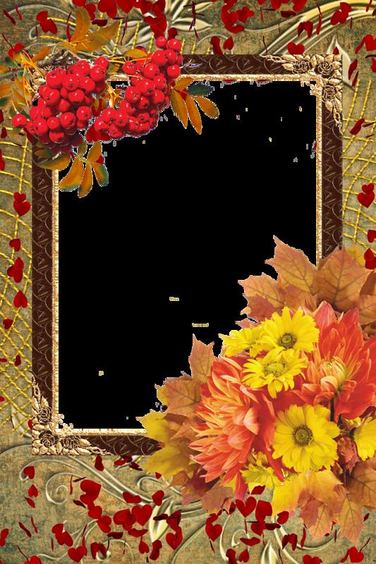Осенняя рамка для поздравления, мотивирующими надписями