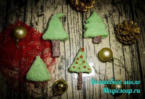 """""""Колючие ёлки - сахарные иголки"""" - новогодний сахарный скраб, рецепт и мастер-класс"""