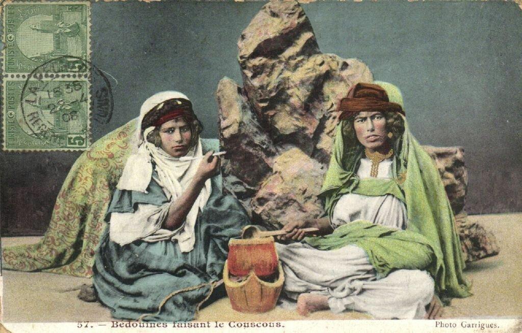 Бедуинка делает кус-кус