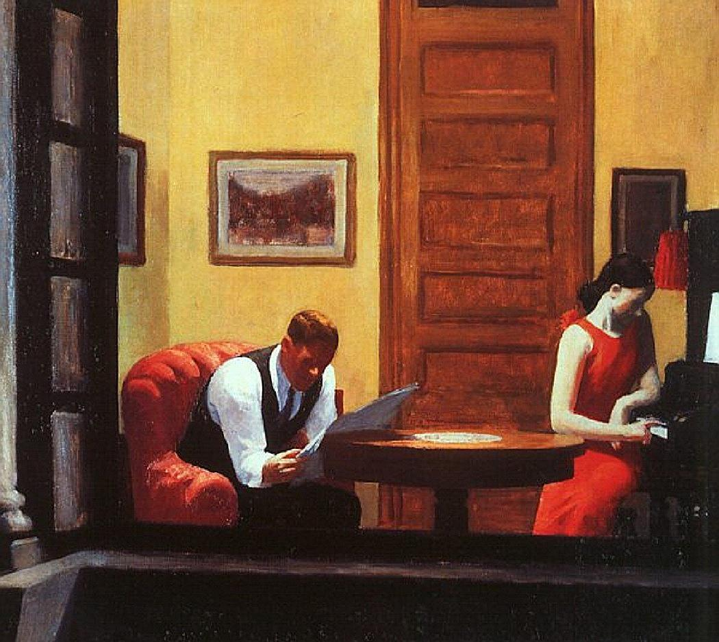 Hopper, Room in New York 1932