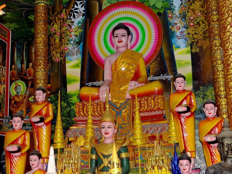 Очень яркий Будда...