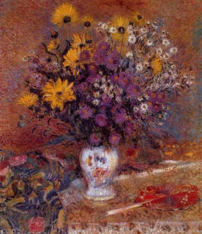 VASE OF FLOWERS (C.1910)  Жорж Леммен