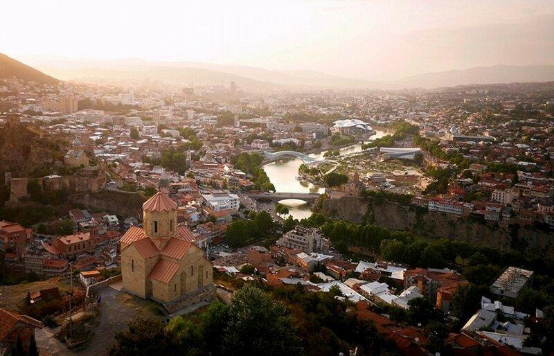 Пейзаж Тбилиси (фото с помощью беспилотника)
